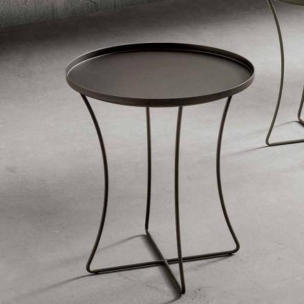 Metal sofabord med beholderbakke fremstillet i Italien - Numbo