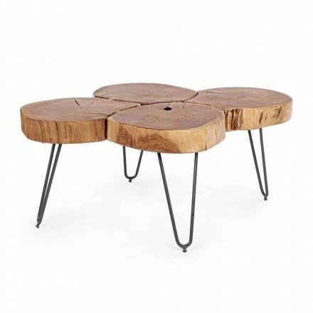 Homemotion Moderne sofabord i træ og malet stål - Severo