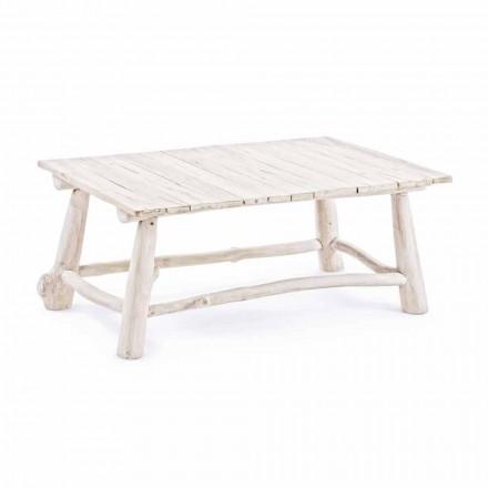Homemotion Moderne sofabord i blegede teakgrene - Bambo