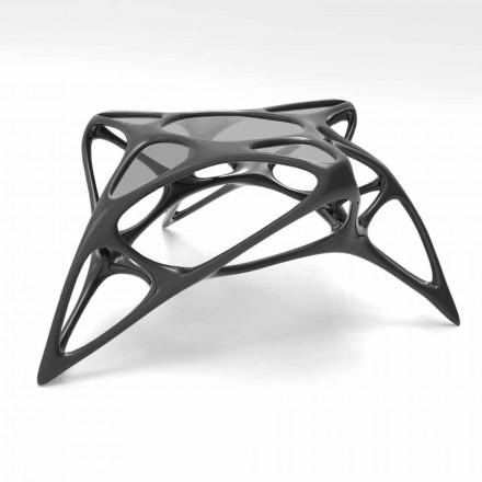 Moderne glas sofabord og Solid Surface Lunar Table # 2