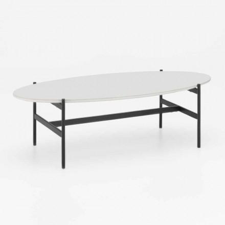 Ovalt stuebord med moderne design med keramisk top - Donatella