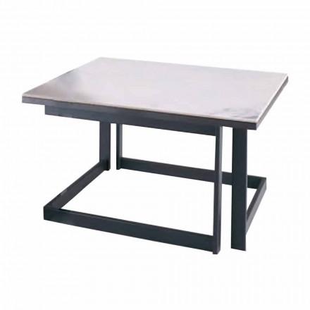 Firkantet sofabord i Gres med metalbase fremstillet i Italien - Albert