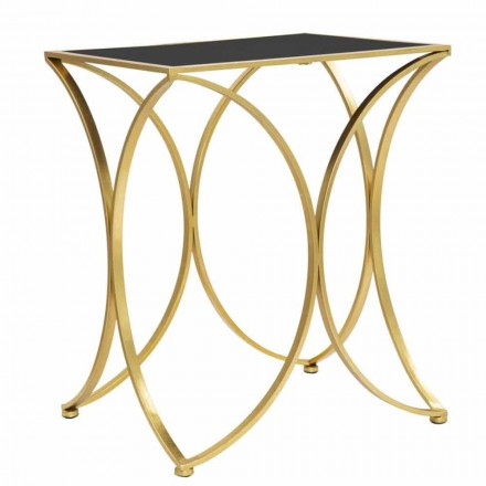 Moderne rektangulært loungebord i jern og spejl - Amice