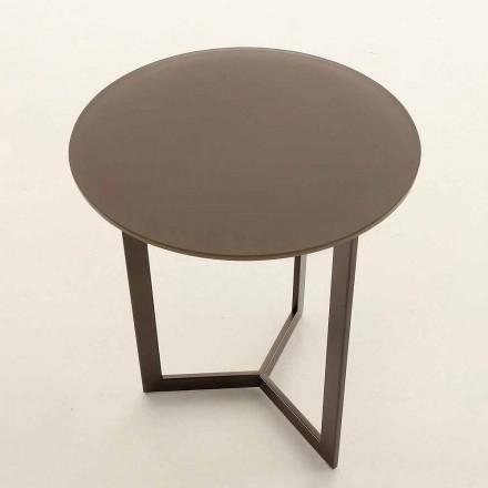 Rundt sofabord med krystalplade Fremstillet i Italien - Indio