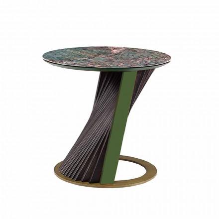 Luksus rundt sofabord i Gres og aske lavet i Italien - Bering