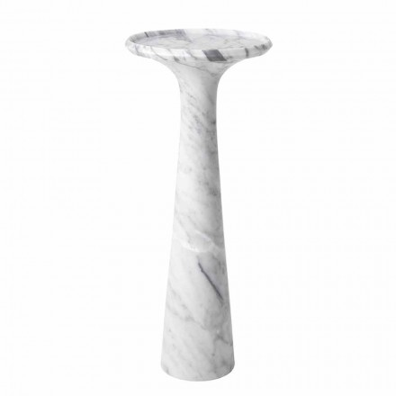 Rundt design sofabord i hvid Carrara marmor - Udine