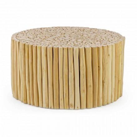 Rundt sofabord dannet af Homemotion Teak Branches - Sprig