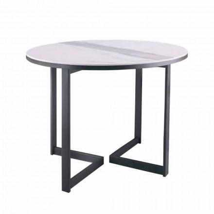 Rundt sofabord i Gres og moderne metal fremstillet i Italien - Albert