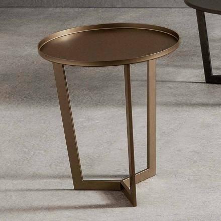 Luksus rundt sofabord i malet metal fremstillet i Italien - Mina