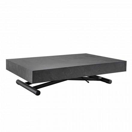 Transformerbart sofabord med overflade af træplade - Ademo