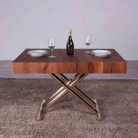 Transformerende sofabord i træ og metal fremstillet i Italien - Patroclo