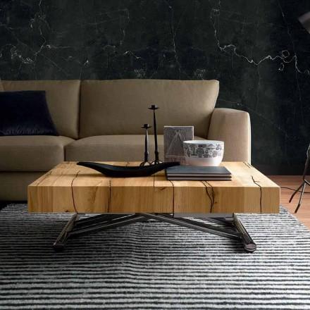 Transformerende sofabord i massivt træ fremstillet i Italien - Trabucco