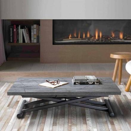 Transformerbart sofabord i metal med top i melamin - Sandero