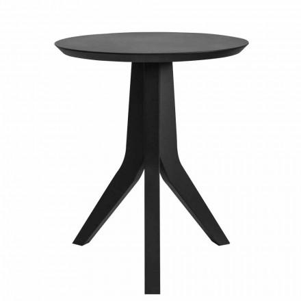 Moderne rundt design sortlakeret træ sofabord - Sperone
