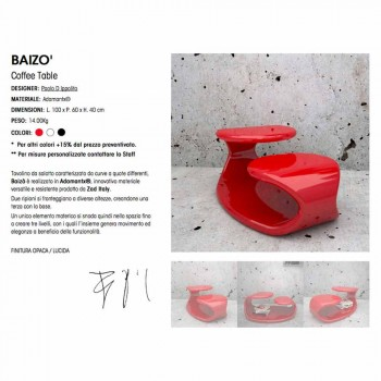 Baizo 'Design Moderne Sofabord Made In Italy