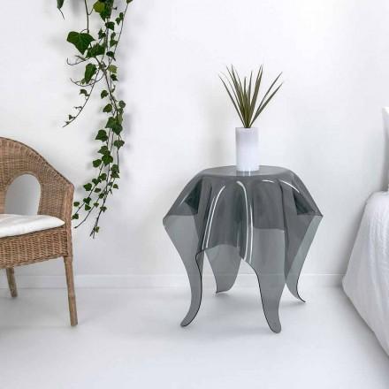 Tabel moderne design røget plexiglas Otte, lavet i Italien