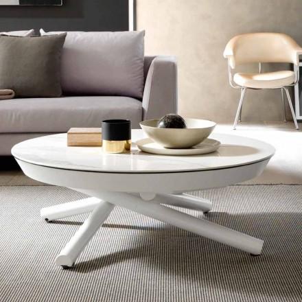 Keramisk sofabord, der kan omdannes til et spisebord, fremstillet i Italien - Azelio