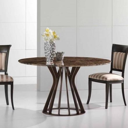 Spisebord lavet af emperador mørk marmor, moderne design, Cesare