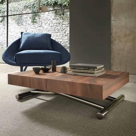 Moderne transformerbart sofabord i træ og metal, fremstillet i Italien - Spirit