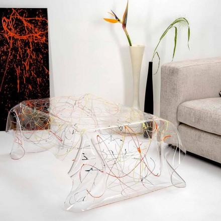 Moderne bord lavet af flerfarvet plexiglas lavet i Italien, Asien