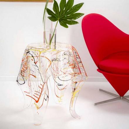 Moderne flerfarvet plexiglas sofabord lavet i Italien, Otto