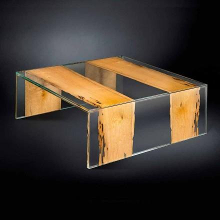 moderne glas sofabord og træ venetianske Briccola