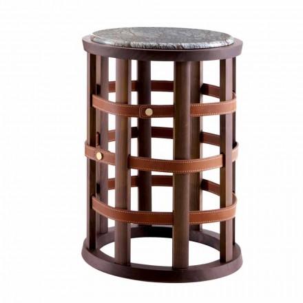 Grilli Harris moderne runde rygerbord lavet i Italien