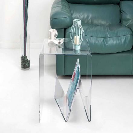 Moderne design lille bord / magasinholder, i plexiglas, Cavour