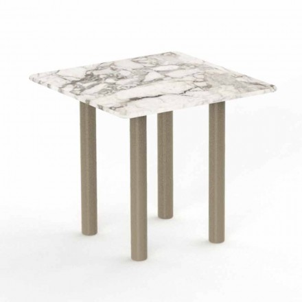 Sofabord af aluminium og Gres firkantet til udendørs - Panama af Talenti