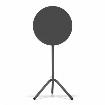 Rundt højt udendørs bord i metal og plade fremstillet i Italien - Baldric