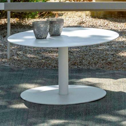 Rundt have sofabord i hvidt aluminium eller trækul - nøgle af Talenti