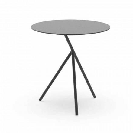 Rundt have sofabord i hvidt eller trækul aluminium - Sofy af Talenti