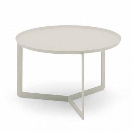 Rundt udendørs sofabord i hamp eller muddermetal - Stephane