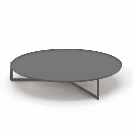 Rundt udendørs sofabord i metal af høj kvalitet fremstillet i Italien - Stephane