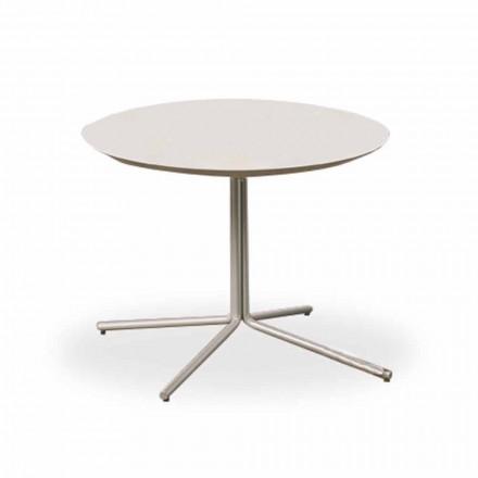 Rundt sofabord i hvid MDF af moderne design 2 størrelser - Geone