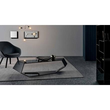 Formet sofabord i Extralight eller røget glas fremstillet i Italien - Neok