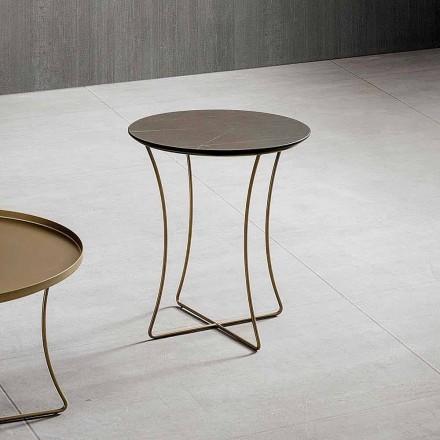 Sofabord i malet metal med Hpl-top fremstillet i Italien - Numbo