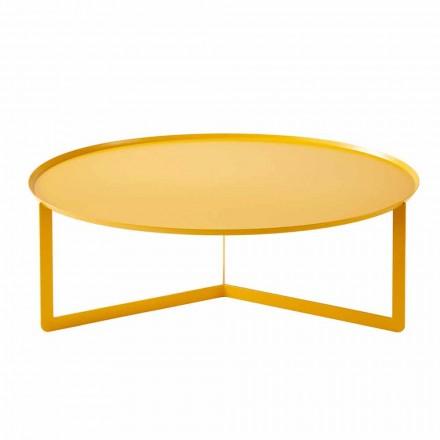 Moderne rundt udendørs sofabord i metal fremstillet i Italien - Stephane