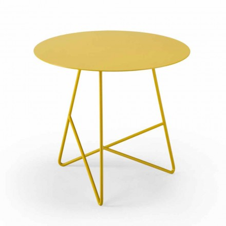 Runde have sofabord i metal i forskellige farver og 3 størrelser - Magali