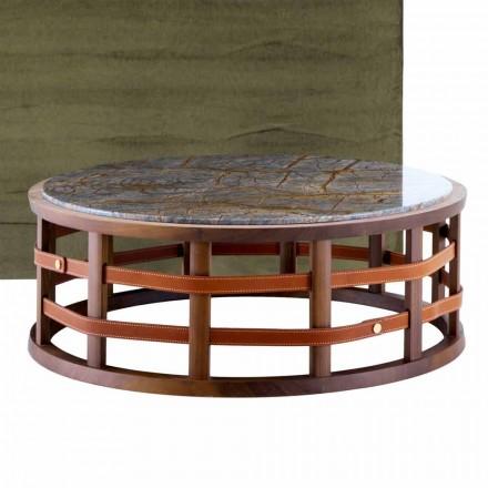 Runde bord i massivt træ og Grilli Harris marmor lavet i Italien