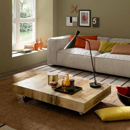 Transformerende sofabord i træ og sort metal fremstillet i Italien - Niverio