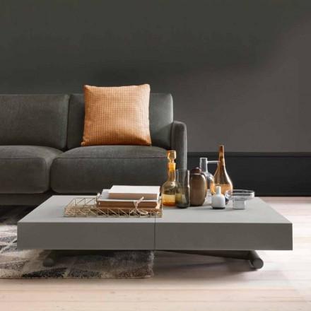 Moderne transformerende sofabord med Malta effekt top fremstillet i Italien - Patroclo