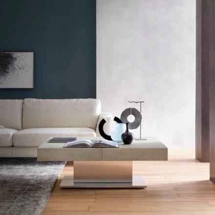 Moderne transformerbart sofabord, mørteleffekt Top fremstillet i Italien - Salomon