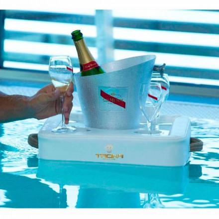 Sofabord - Floating bakke design imiteret læder nautiske Trona