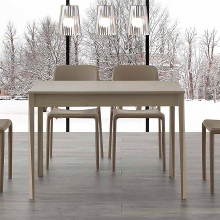 Udvideligt bord med ben i massivt træ Empoli, moderne design