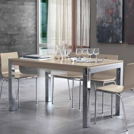 Udvideligt bord med Tanganika valnødstræ og metalben - Ketla