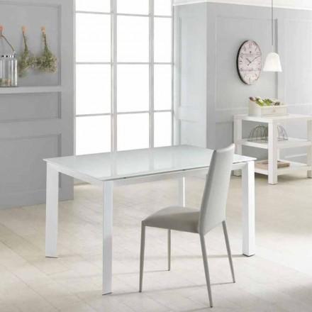 Udvidelse bord med hærdet glasplade Vinicio