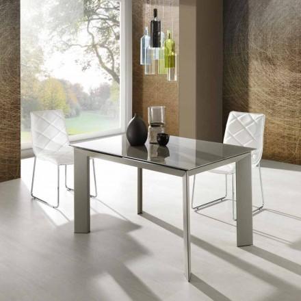 Zeno bord med taupe malet hærdet glas top