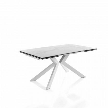 Moderne køkkenudvideligt bord i glaskeramik - Vinicio
