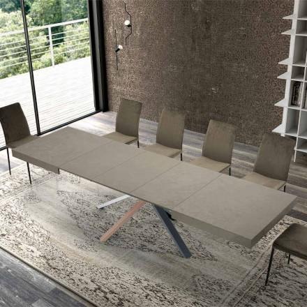 Udtrækkeligt spisebord i moderne designtræ op til 3,1 m - Argentario